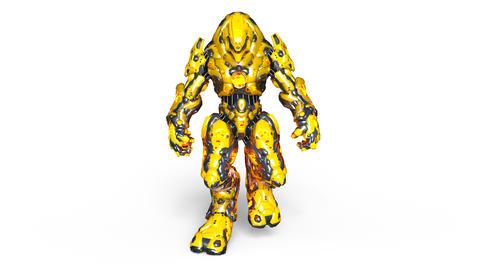 UHD-Robot Walk CG動画