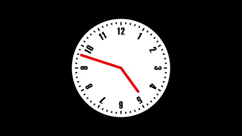 Simple Clock Loop CG動画素材