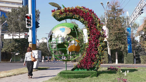 Ecological Monument Almaty Footage