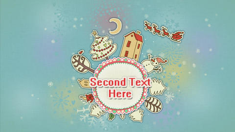 Christmas Round Animation After Effects Template