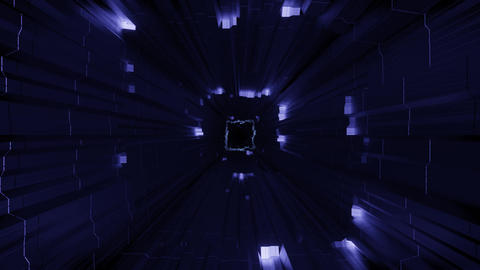 futuristic science fiction tunnel with light effects - a cool 3d illustration Animation