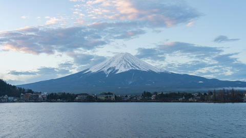 Time lapse of Fujisan mountain the famous place in Japan Live Action