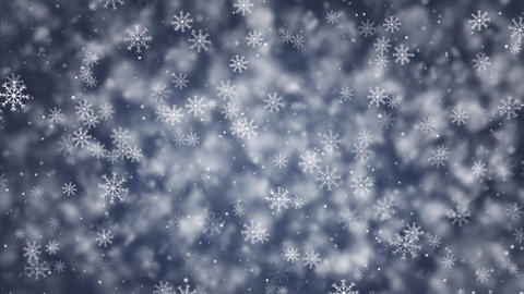 Snowflakes Blue Loop Animation