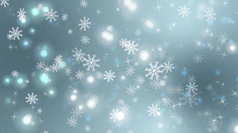 Snowflakes Bright Particles Loop Animation