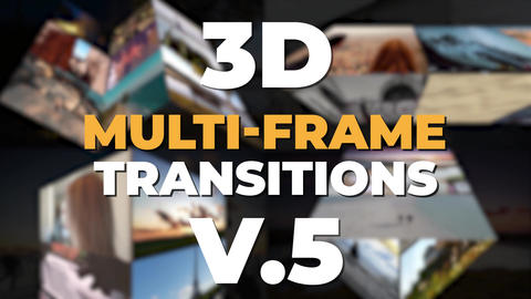 3D Multi-Frame Transitions v5 After Effects Template
