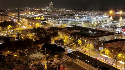 Barcelona Maremagnum Harbor Tourist City Area Hyper Lapse