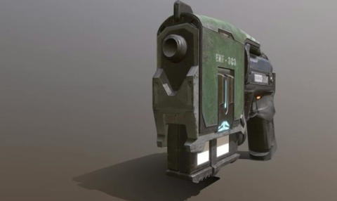 Low poly gun model 3D Model