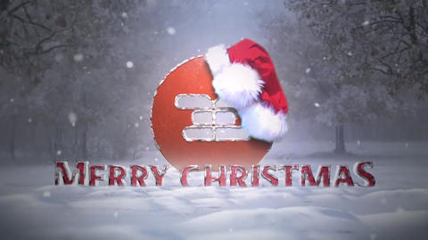 Christmas Hat Logo Intro After Effects Template