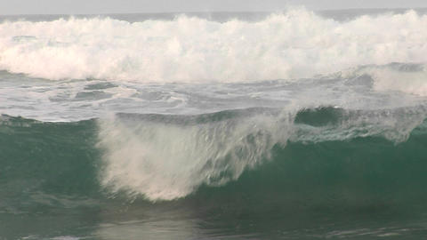 Waves roll and crash toward the shore Stock Video Footage