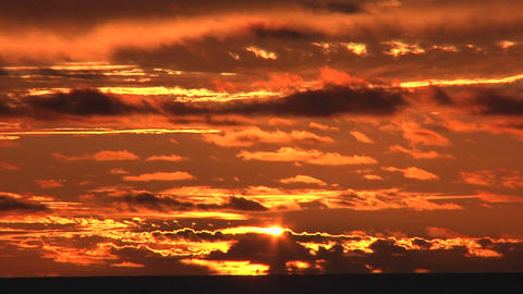 Shades of red and orange in a colorful sky Stock Video Footage