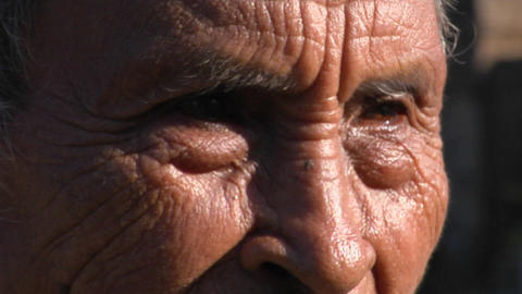 An elderly Asian man smiles Stock Video Footage