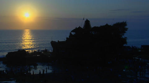 The Pura Tanah Lot temple in Bali, Indonesia is... Stock Video Footage