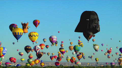 A balloon at the Albuquerque Balloon festival looks like... Stock Video Footage
