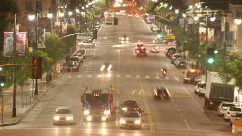 Time lapse of traffic in a downtown area Stock Video Footage