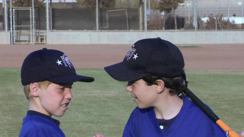 young baseball players give each other handshakes Footage