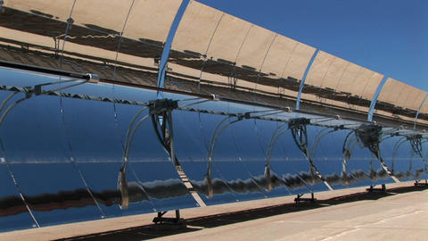 Solar panels reflect in the sun Footage