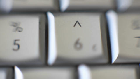 The number 6 is on a computer keyboard Footage
