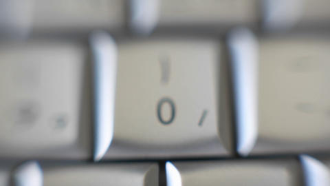 The number 0 is on a computer keyboard Stock Video Footage