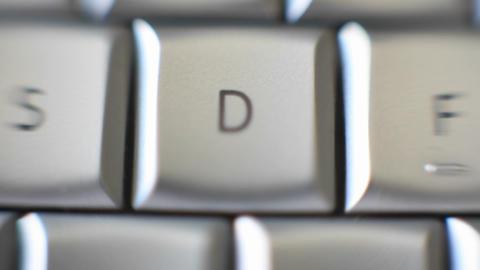 The letter D is on a computer keyboard Footage