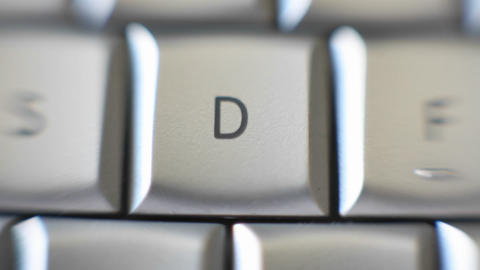 The letter D is on a computer keyboard Stock Video Footage