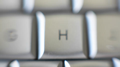 The letter H is on a computer keyboard Stock Video Footage