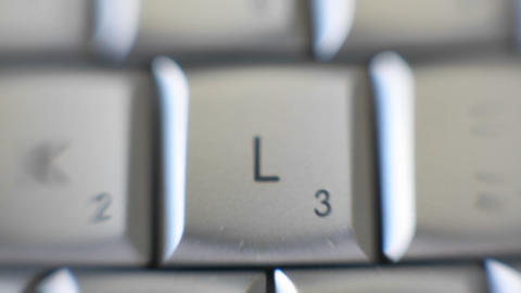 The letter L is on a computer keyboard Footage