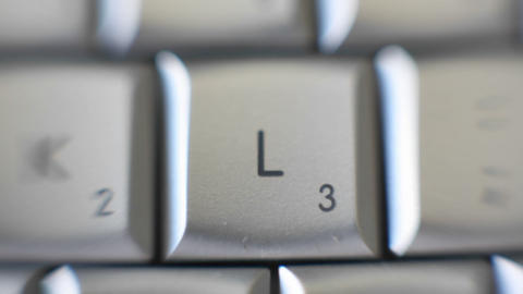 The letter L is on a computer keyboard Stock Video Footage