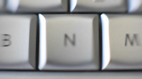 The letter N is on a computer keyboard Footage