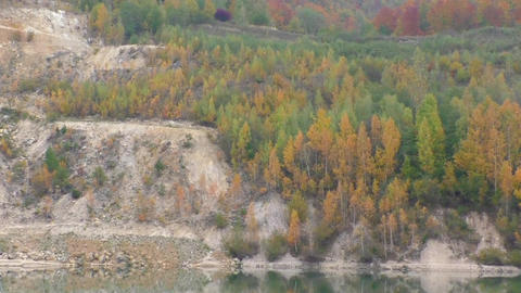View of the sandy dolomite quarry in Slovakia Footage