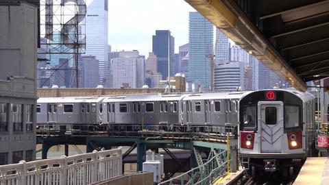 New York - Subway Rallenty 120 fps clip 02 HD Footage