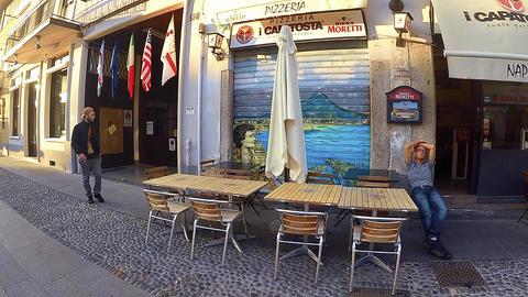 MILAN, ITALY - Restaurants, shops and cafes at the Navigli - November 2015 Footage