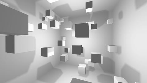 Abstract geometric shapes rotating cubes, background 3d Animation