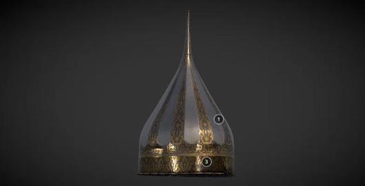 Tsar ivan ivs ivan the terribles helmet 3D Model