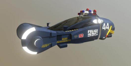 Police spinner 3D Model