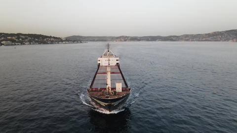 Sea Transportation Ship Aerial View Live Action
