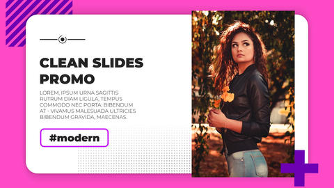 Clean Slides Promo After Effects Template