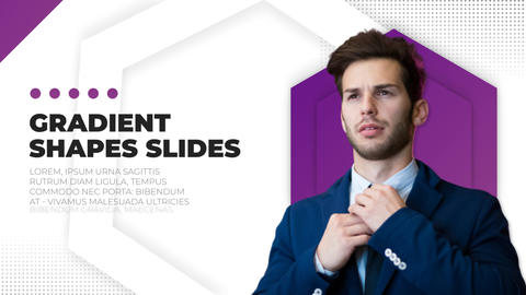 Gradient Shapes Slides After Effects Template