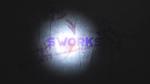 Bloody Wall Logo After Effects Template
