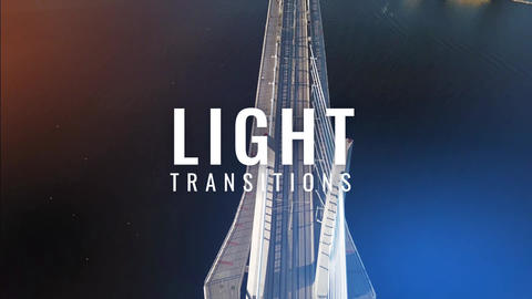 Light Transitions Motion Graphics Template