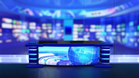 News Studio, 3d virtual news studio Animation