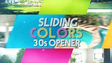 Sliding Colors 30s Opener - Apple Motion and Final Cut Pro X Template Apple Motion-Vorlage