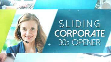 Sliding Corporate 30s Opener - After Effects Template After Effects Template