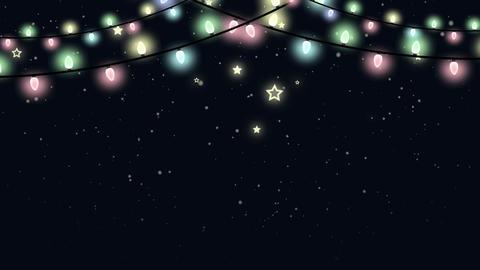 Christmas Looped Garland Animated Background Animation
