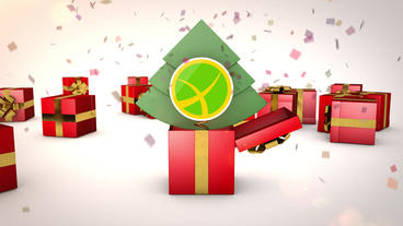 Gift Boxes and Logo Animation After Effectsテンプレート