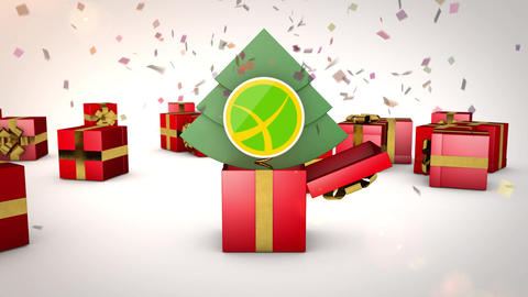 Gift Boxes and Logo Animation After Effects Template