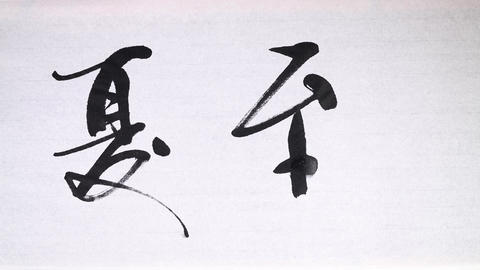 """Chinese calligraphy of one of 24 Chinese solar terms """"Summer solstice"""" Footage"""
