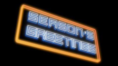 Season's Greetings Floating Animation
