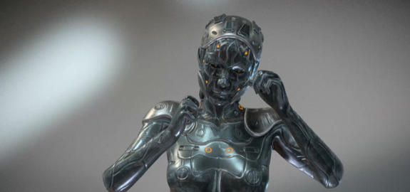 Cyber woman 3D Model