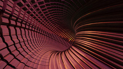 Rotating tunnel in violet Animation
