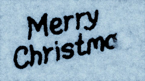 Beautiful Animation of the Text Appearing on the Snow. Merry Christmas Theme. HD Animation